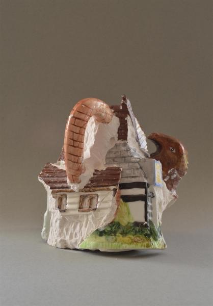 Ex-local (Houses, owl and dinosaur), 2016