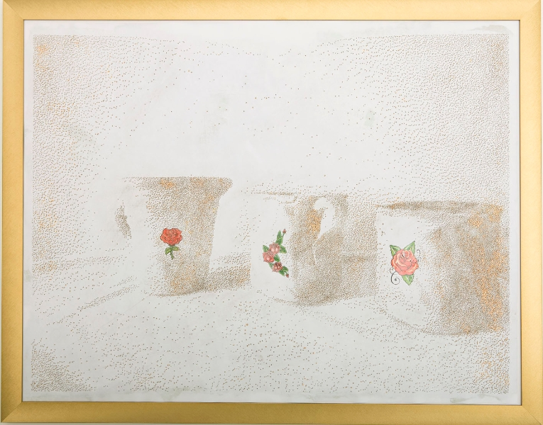 Blind Drawing (Dough Jugs and flowers)